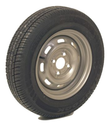 Trailer Wheel: 155x13 4ply 4x100mm pcd