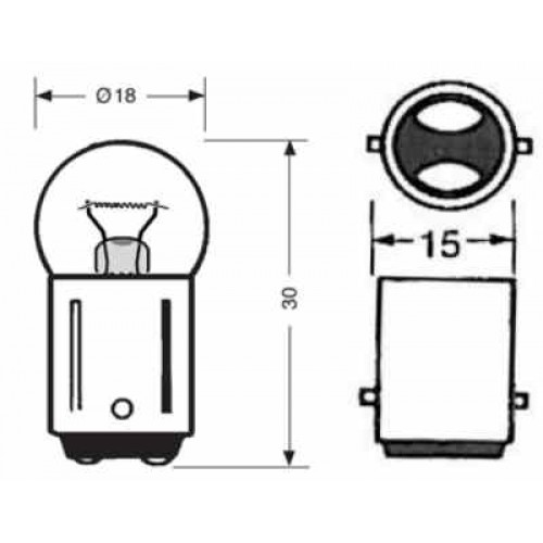 BB 1030 12V Double Contact Bulb