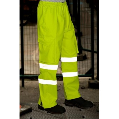 EN471 CLASS 1 EXECUTIVE CARGO OVERTROUSER YELLOW
