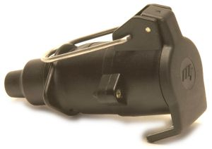 Trailer Plug - 7 pin (12n) In-line Socket: Black