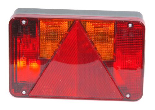 Trailer Light - 6 way Lamp inc. Number Plate: Nearside