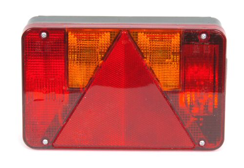 Trailer Light - Quick Fit - 6 way Lamp O/S: No. Plate: