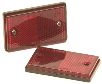Trailer Reflectors: Red - Rear: (pack 2)